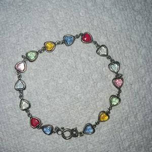 Italy .925 stamped crystal bracelet